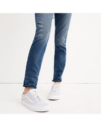 Madewell - X Vans Unisex Old Skool Lace-up Trainers In Tumbled Leather - Lyst