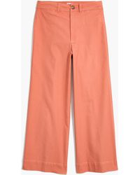Madewell - Emmett Wide-leg Crop Trousers - Lyst