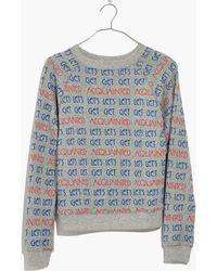 Madewell - X Monogram® Let's Get Acquainted Sweatshirt - Lyst