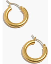 Madewell - Chunky Small Hoops - Lyst