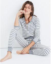 Madewell - Striped Henley Pyjama Top - Lyst