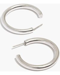 Madewell - Chunky Medium Hoop Earrings - Lyst