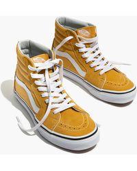 a674f14f21 Madewell - Vans Unisex Sk8-hi High-top Sneakers In Ochre Suede - Lyst