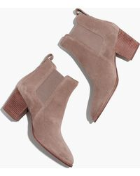 Madewell - The Regan Boot In Suede - Lyst