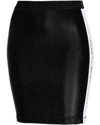 PUMA - Black Biker Skirt - Lyst