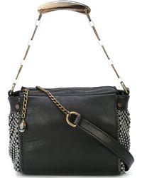 Laura B - Black Leather Bauletto Handbag - Lyst