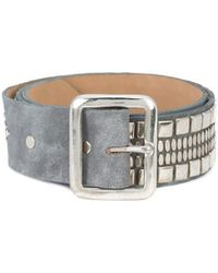 "Calleen Cordero - Grey Leather Serape 1.75"" Belt - Lyst"