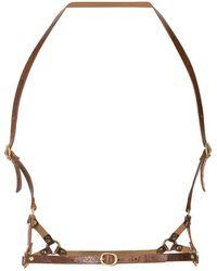 "Calleen Cordero - Brown Leather 5"" Harness Belt - Lyst"