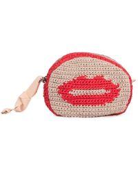 Maria La Rosa - Red Smile Isa Cotton Bag - Lyst