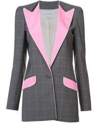 Hebe Studio - Grey/pink Wool Boyfriend Blazer - Lyst
