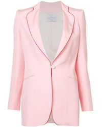 Hebe Studio - Pink Silk Smoking Blazer - Lyst