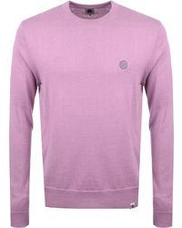 Pretty Green - Hinchcliffe Crew Neck Jumper Pink - Lyst
