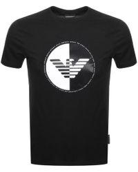 Armani - Emporio Crew Neck Logo T Shirt Black - Lyst