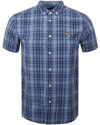 Lyle & Scott - Lyle And Scott Short Sleeved Checked Shirt Navy - Lyst