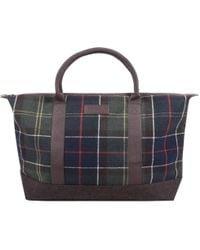 Barbour - Check Elgin Bag Brown - Lyst