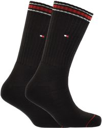 Tommy Hilfiger - Two Pack Iconic Socks Black - Lyst