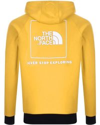The North Face - Raglan Hoodie Yellow - Lyst