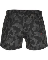 HUGO - By Boss Camouflage Swim Shorts Green - Lyst