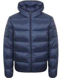 Paul & Shark - Paul And Shark Full Zip Quilted Hooded Jacket Navy - Lyst