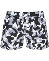 HUGO - By Boss Camouflage Swim Shorts Black - Lyst