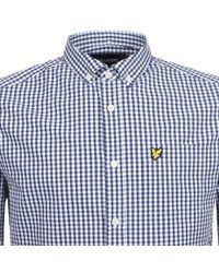 Lyle & Scott - Lyle And Scott Long Sleeved Gingham Shirt Navy - Lyst