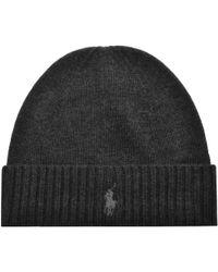 Ralph Lauren - Beanie Hat Grey - Lyst