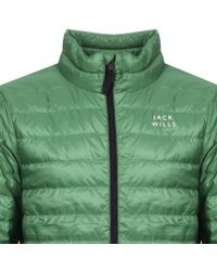 Jack Wills - Nevis Lightweight Down Jacket Green - Lyst