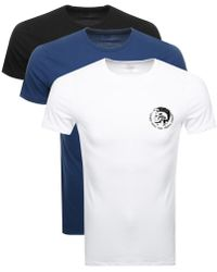 DIESEL - Randal 3 Pack T Shirt Black - Lyst