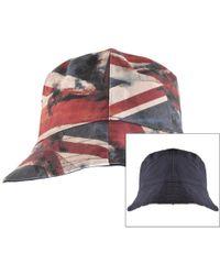 34548c7a0d3 Pretty Green - Reversible Union Jack Bucket Hat Navy - Lyst