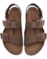 39ee636c6da5 Lyst - Birkenstock Milano N Open-toe Synthetic Slingback Sandal in ...