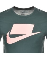 8064ac613a32 Lyst - Nike Dry Swoosh Graphic T-shirt in Blue for Men