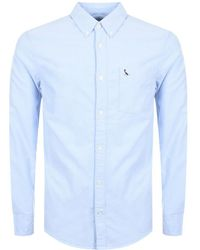 Jack Wills - Wadsworth Long Sleeved Shirt Blue - Lyst