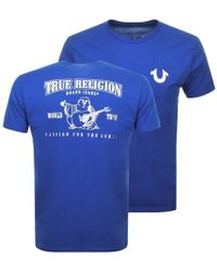 50e5843f True Religion Core Metallic Ss Crew Tee Burgundy in Red for Men - Lyst