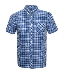 Fred Perry Short Sleeved Gingham Shirt - Blue