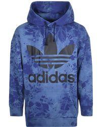 adidas - Originals Oversized Tie Dye Hoodie Blue - Lyst