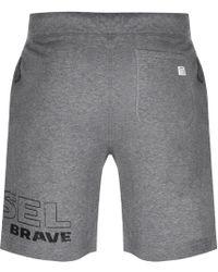 DIESEL - Pan Shorts Grey - Lyst