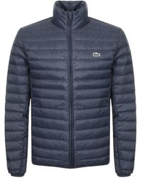 Lacoste - Full Zip Padded Jacket Navy - Lyst