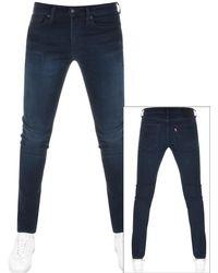 Levi's - 511 Slim Fit Jeans Navy - Lyst