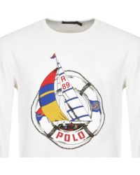 Ralph Lauren - Regatta Sweatshirt White - Lyst