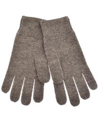 Lyle & Scott - Lyle And Scott Racked Rib Gloves Grey - Lyst