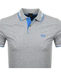 BOSS Green - Paul Polo T Shirt Grey - Lyst