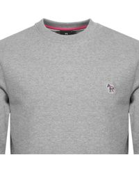 Paul Smith - Ps By Crew Neck Sweatshirt Grey - Lyst