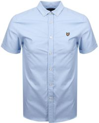 Lyle & Scott - Lyle And Scott Short Sleeved Oxford Shirt Blue - Lyst