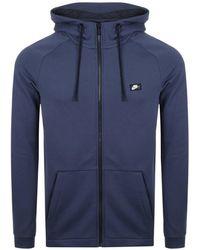 Nike - Modern Hoodie In Blue 805128-451 - Lyst