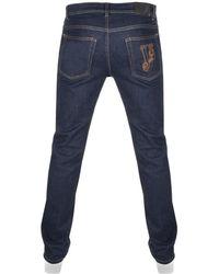 Versace Jeans - Slim Fit Tiger Jeans Blue - Lyst