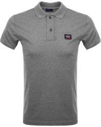 Paul & Shark - Paul And Shark Short Sleeved Polo T Shirt Grey - Lyst