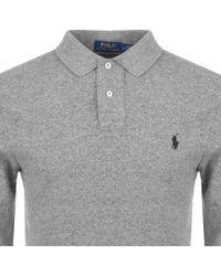 Ralph Lauren - Slim Fit Polo T Shirt Grey - Lyst