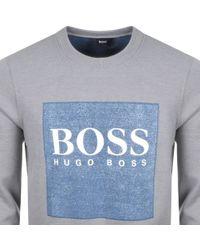 BOSS by Hugo Boss - Boss Orange Square Logo Sweatshirt Grey - Lyst