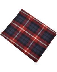 GANT - Lambswool Checked Scarf Red - Lyst