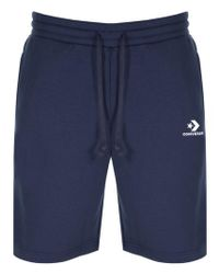 7897f1669d65 Converse Chuck Patch Shorts In Navy 10004633-a01 in Blue for Men - Lyst